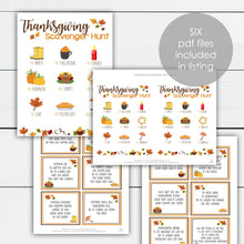 Load image into Gallery viewer, Fall Scavenger Hunt Printable Games