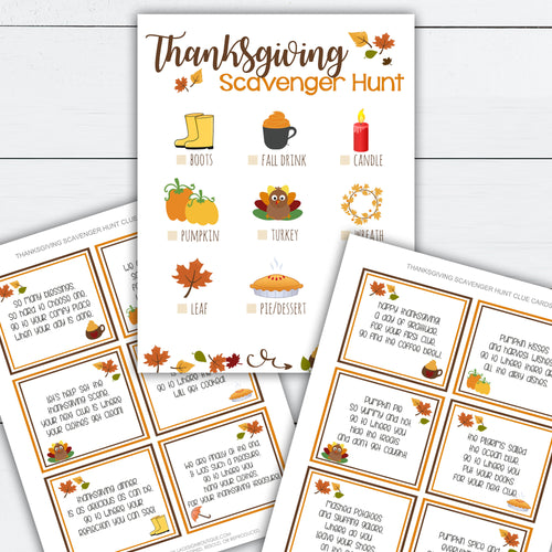 Thanksgiving Scavenger Hunt