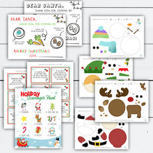Load image into Gallery viewer, Christmas Activity for Kids, Christmas Activity Printable, Christmas Activity Kit, Activities for Kids, Dear Santa Tray, Scavenger Hunt