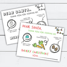 Load image into Gallery viewer, Santa Placemat, Santa Placemat Designs, Dear Santa Placemat, Dear Santa Tray, Cookies for Santa, Reindeer Food, Christmas Activities