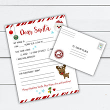 Load image into Gallery viewer, Santa Letter, Letter to Santa, Personalized Letter from Santa, Nice List Certificate, Naughty List, Elf Warning, Santa Gift Tag, Printable