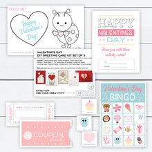 Load image into Gallery viewer, Greeting Card Kit, Greeting Card Kit for Kids, Valentines Day Greeting Card, Greeting Card Set, Craft Cards Making, DIY Valentine Cards
