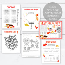 Load image into Gallery viewer, easy diy printable lunar new year activities