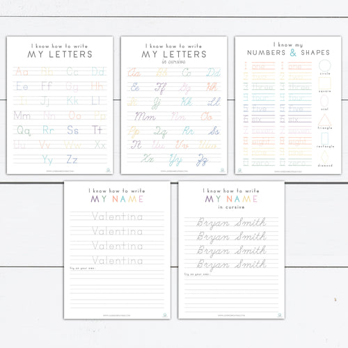 Practice Writing, Practice Name Writing, Practice Writing Numbers, Tracing, Handwriting, Printable, Custom Name, Alphabet and Number Print