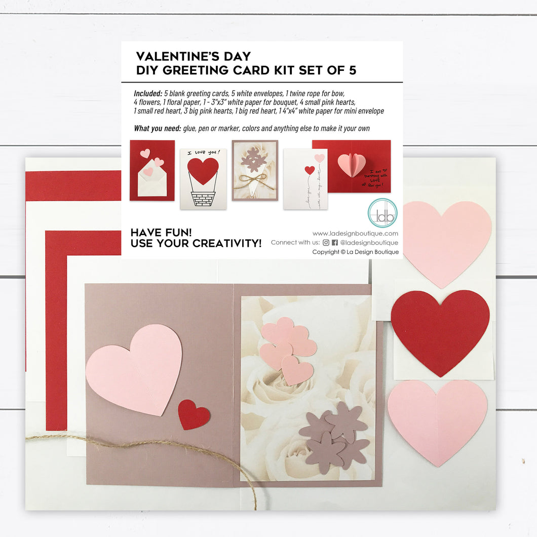 valentine greeting card kit