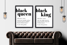 Load image into Gallery viewer, black king and queen