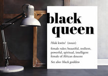 Load image into Gallery viewer, black queen definition art