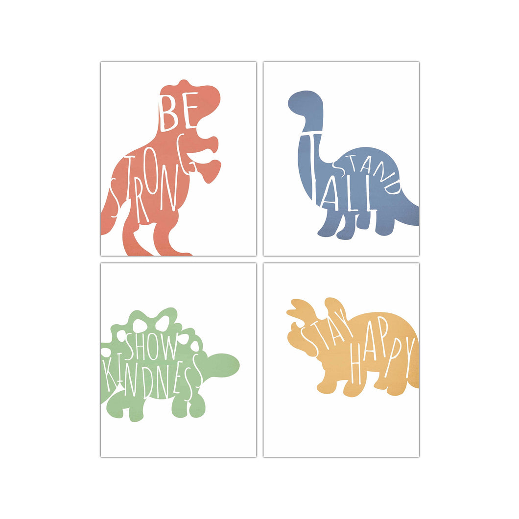Dinosaur art set of 4