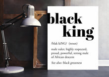 Load image into Gallery viewer, black king definition art