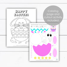 Load image into Gallery viewer, easter bunny coloring page activity