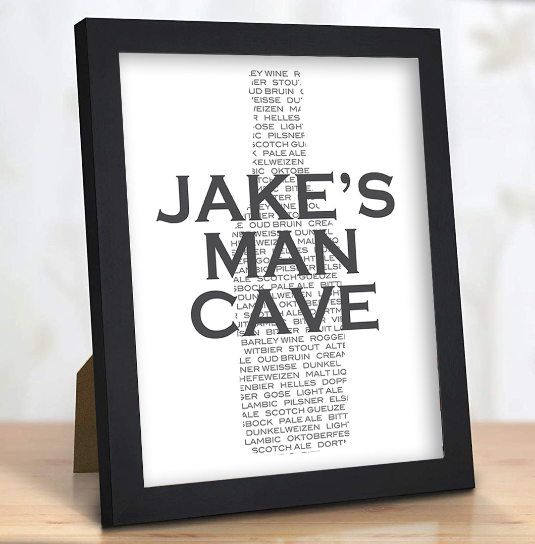 Personalized Man Cave Sign Gift for Him