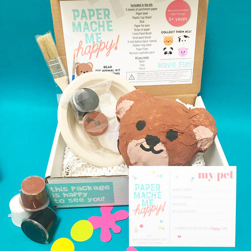 paper mache bear gift for bear and cub lovers