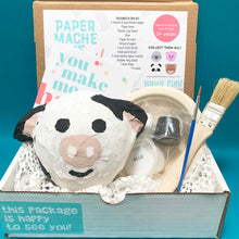 Load image into Gallery viewer, paper mache cow farm animal gift