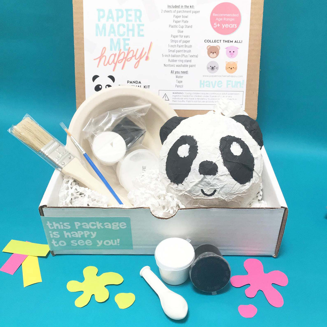 paper mache panda gift for panda lovers