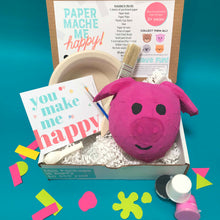 Load image into Gallery viewer, paper mache piggy bank diy craft