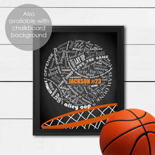 Load image into Gallery viewer, ideas for bedroom art for basketball player