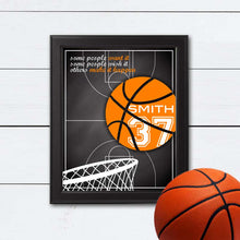 Load image into Gallery viewer, custom basketball art for team or coach gift