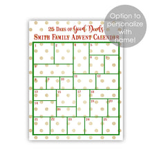 Load image into Gallery viewer, advent calendar printable