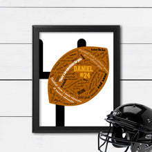 Load image into Gallery viewer, football wall art for football player