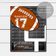 Load image into Gallery viewer, Personalized Football Art Gift with Player Name and Number
