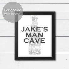 Load image into Gallery viewer, custom man cave art sign