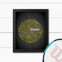 Load image into Gallery viewer, custom tennis ball art print for gift