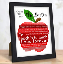 Load image into Gallery viewer, framed teacher gift