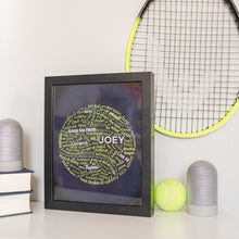 Load image into Gallery viewer, tennis wall decor for bedroom