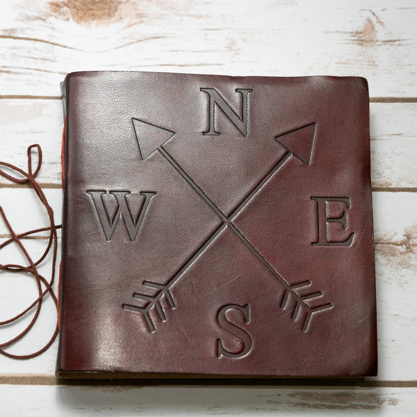 Directions Square Handmade Leather Journal