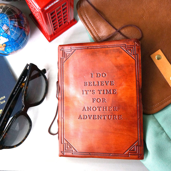 Another Adventure Handmade Leather Journal - Soothi | Style With Substance
