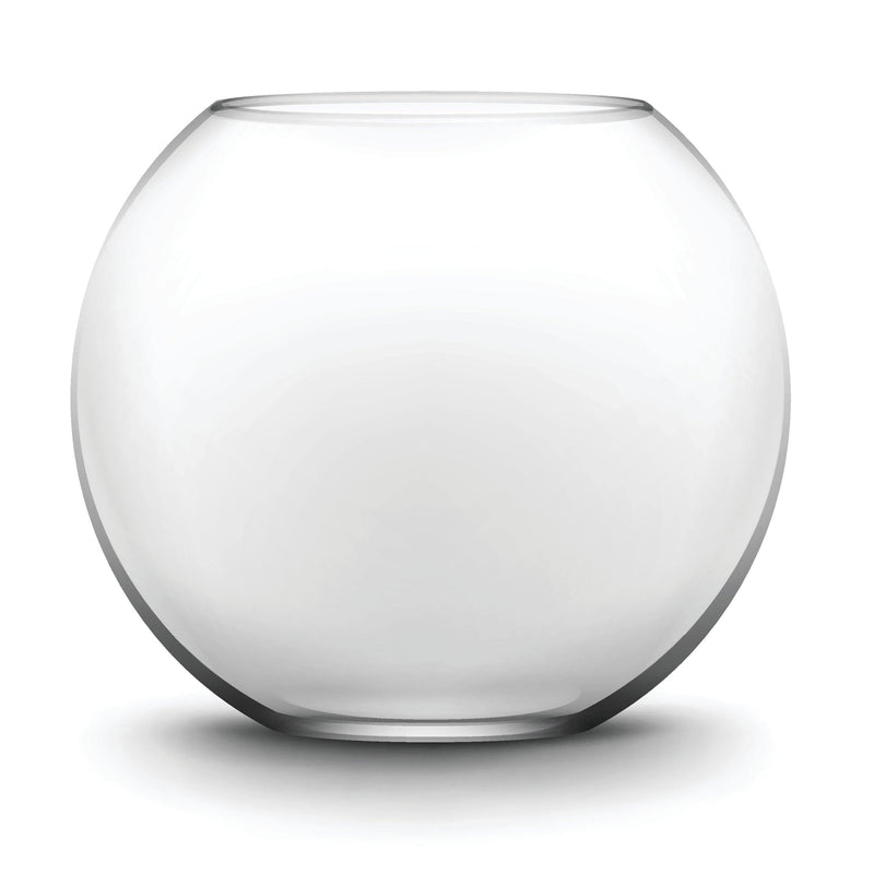 "Clear Glass Bubble Bowl H-6"" O-6"" D-8"" - Pack of 6 PCS"