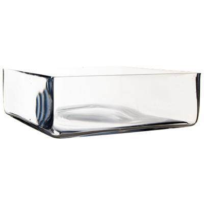"Clear Glass Square Vase O-12"" H-4"" - Pack of 3 PCS"