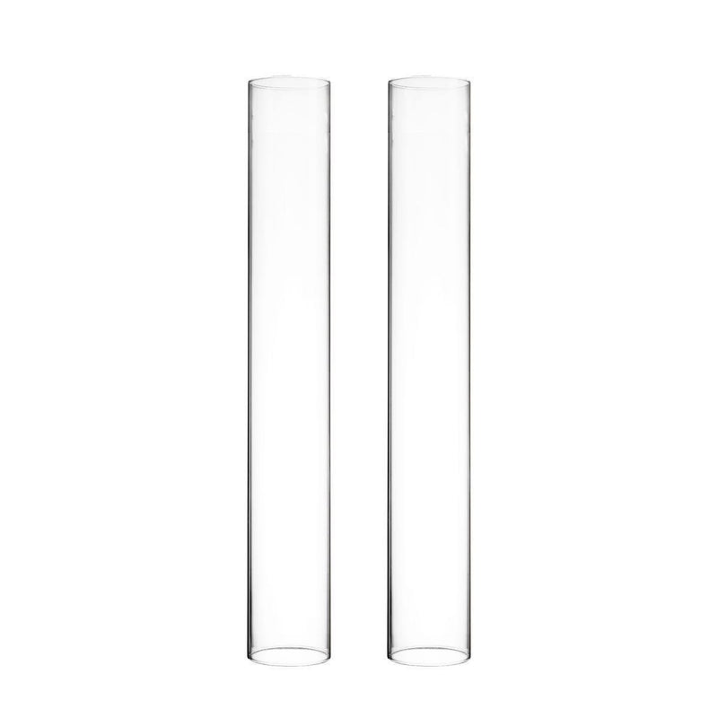 "Clear Glass Open Ended Hurricane Tube D-2.5"" H-14"" - Pack of 48 PCS"