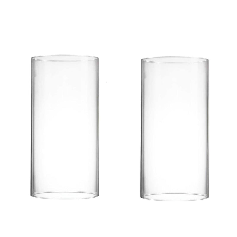 "Clear Glass Open Ended Hurricane Tube D-7"" H-14"" - Pack of 4 PCS"