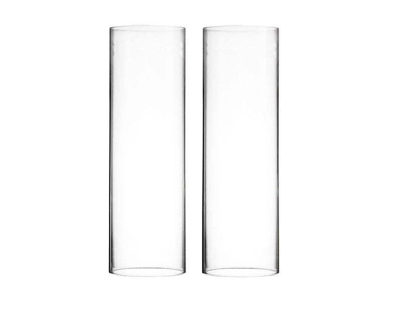 "Clear Glass Open Ended Hurricane Tube D-6"" H-18"" - Pack of 8 PCS"