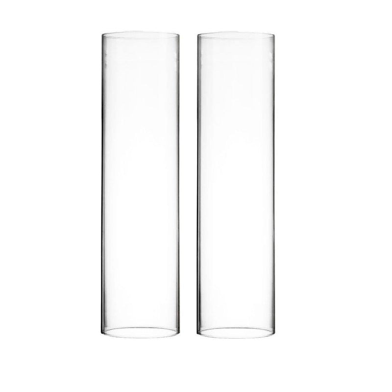 "Clear Glass Open Ended Hurricane Tube D-4.75"" H-18"" - Pack of 6 PCS"