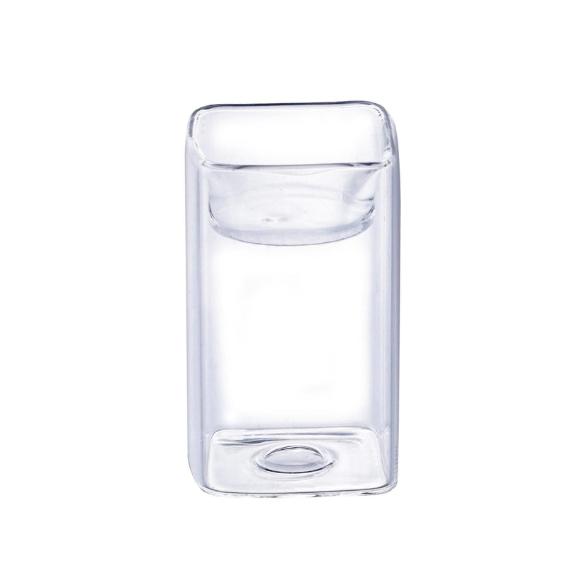 "Clear Glass 2 Way Tealight Holder O-2.5"" H-4 - Pack of 108 PCS"