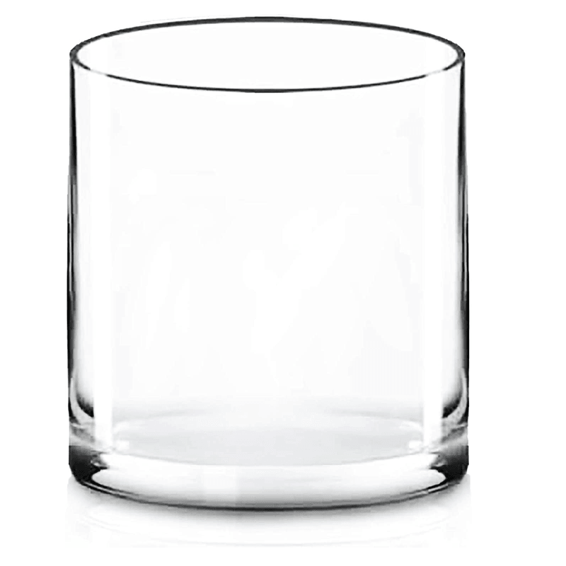 "Clear Glass Cylinder Vase D-8"" H-8"" - Pack of 4 PCS"