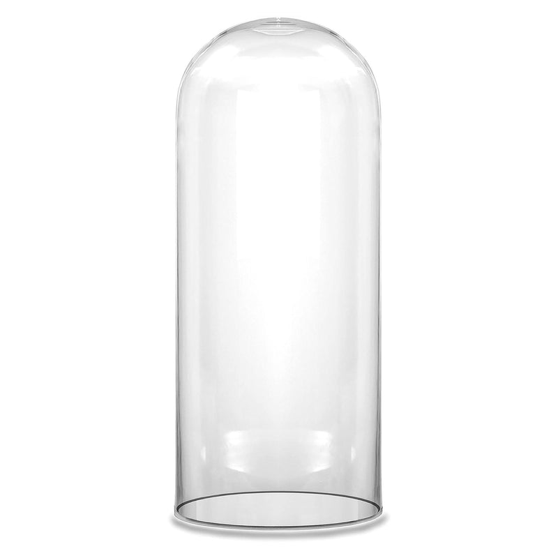 "Clear Glass Cloche Dome D-10"" H-18.5"" - Pack of 1 PC"