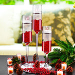 "Clear Glass Contemporary Candle Holder D-3.5"" H-24"" - Pack of 6 PCS"