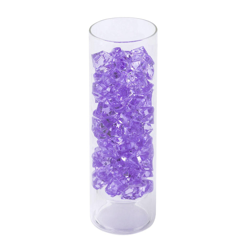 "Violet Acrylic Vase Filler Crushed Ice D-0.8""-1.2"" - Pack of 18 LBS"