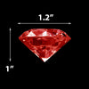 "Red Acrylic Vase Filler Large Diamond D-1"" - Pack of 24 LBS"