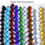 "Silver Glass Vase Filler Flat Gem Stone D-0.6"" - Pack of 44 LBS"