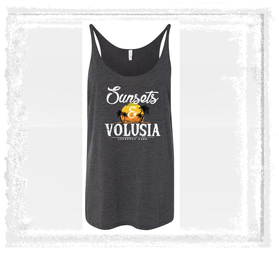 Sunsets & Volusia Grey Tank