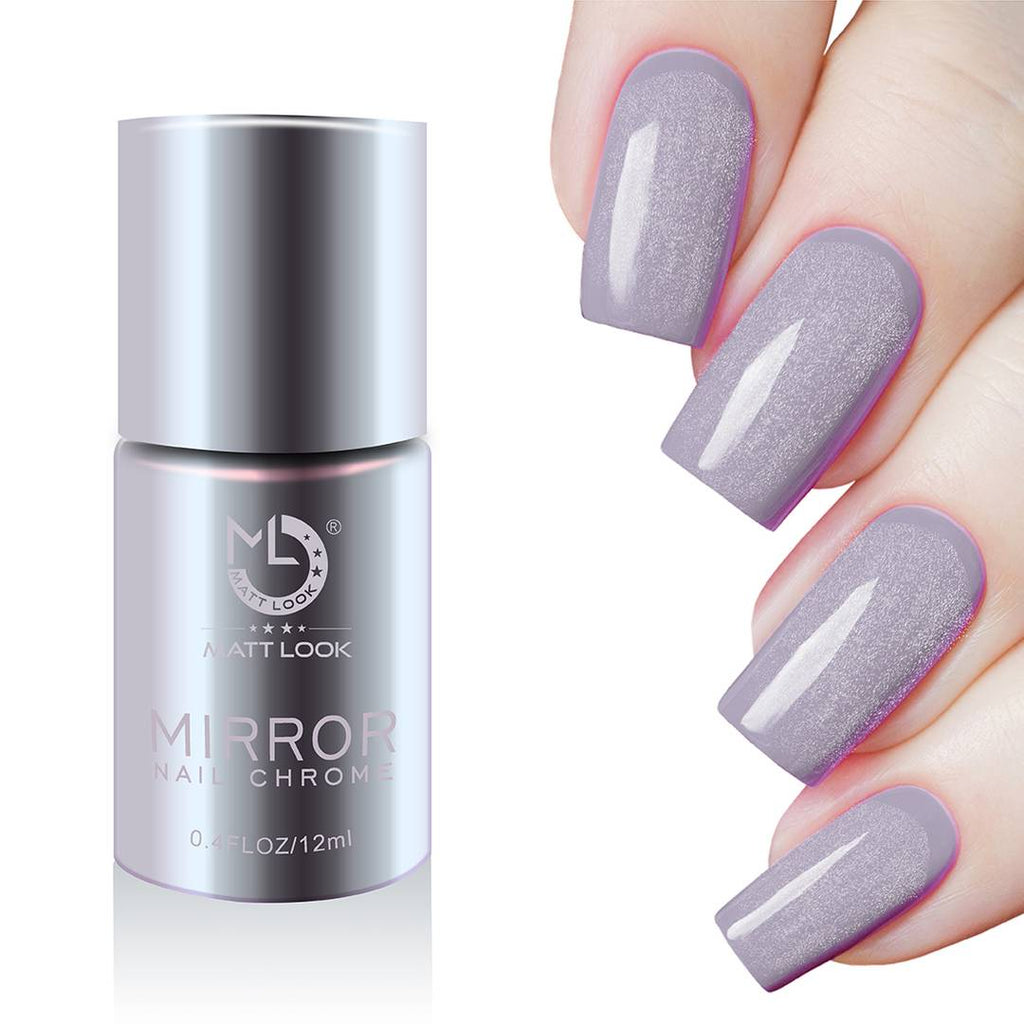 Matt Look Mirror Nail Chrome