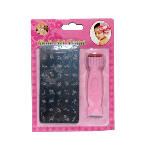 nail art stamping stamp kit for women xy-18 (pink, pack of 1)
