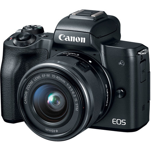 Canon EOS M50 (Black) with EF-M 15-45 Lens