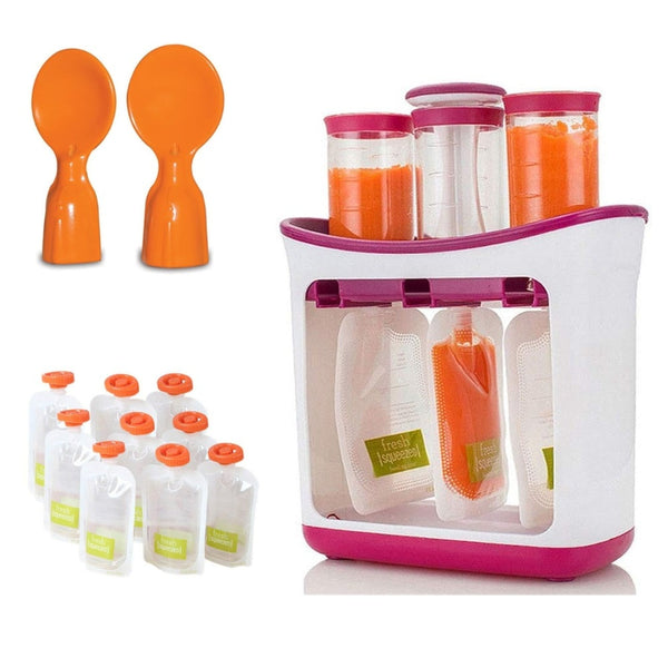 Squeeze Station & Pouches - Baby Feeding Kit