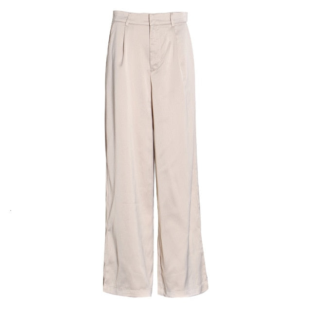 PANTALON LARGO DE PIERNA ANCHA