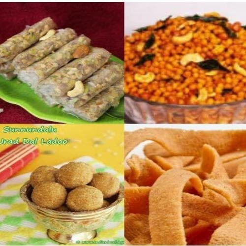 Putharekulu (Andhra Sweet) with spicy snacks Combo